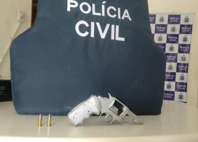 Homem é preso em flagrante por posse ilegal de arma de fogo em Baixa Grande