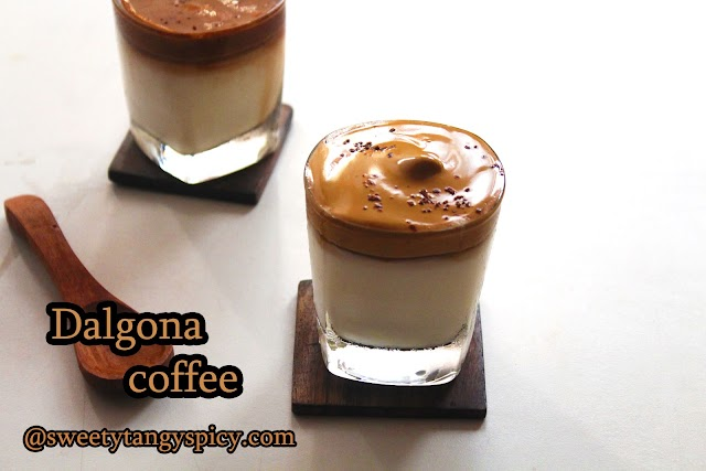 How to make Dalgona Coffee | How Two Layered Dalgona Coffee At Home | How to make Chocolate Dalgona Coffee