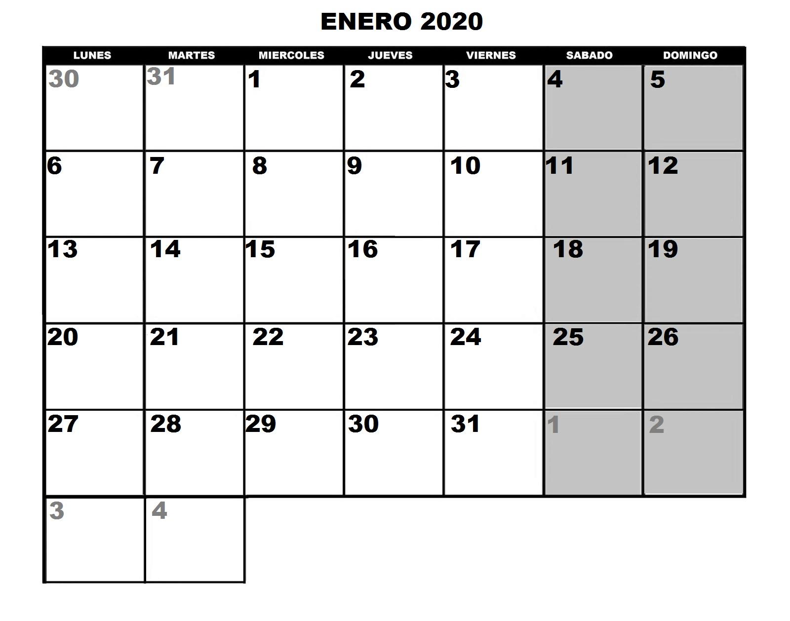 Calendario Mes De Octubre 2020 Para Imprimir.Tornadojack Calendario 2020 Para Imprimir Y Poner Fotos A