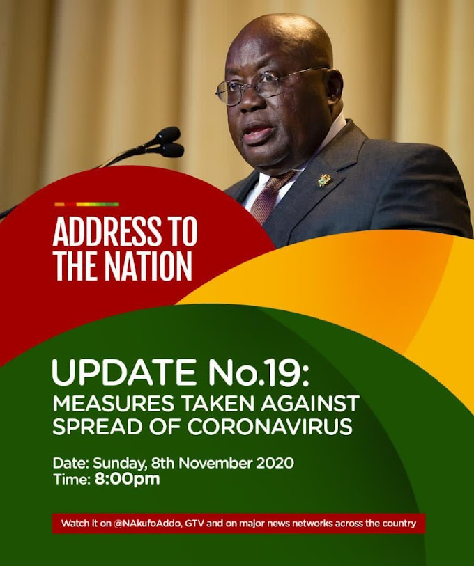 Full Speech: Akufo-Addo's 19th address on measures taken against spread of Covid-19