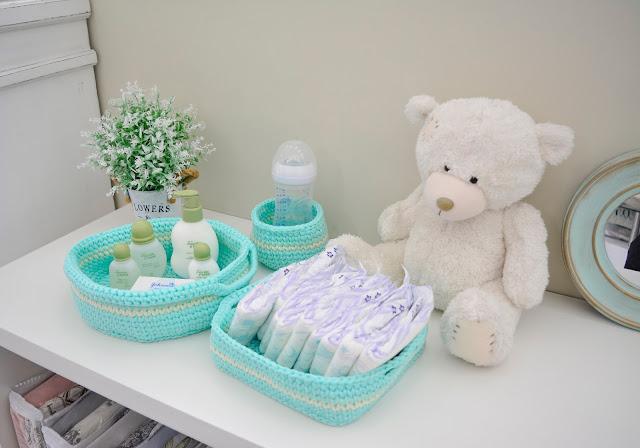 Kit Higiene de Bebê em Crochê com Fio Náutico