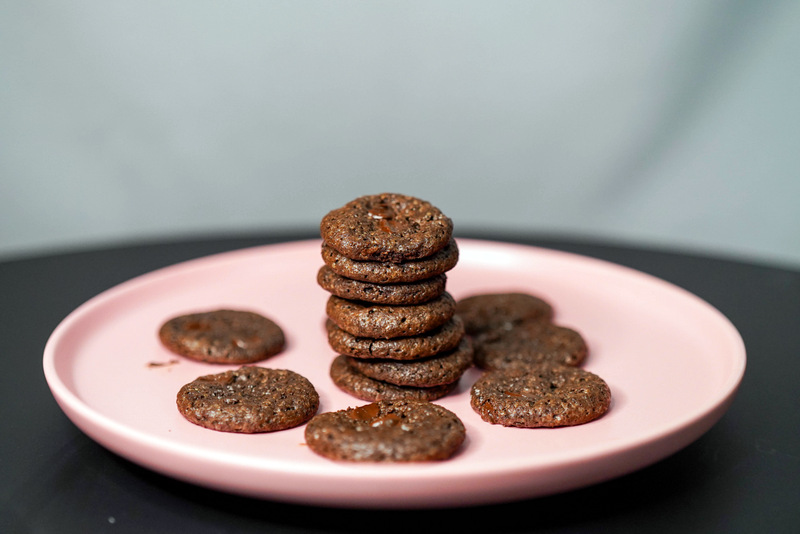 Foodbam: Double Trouble dark chocolate cookies