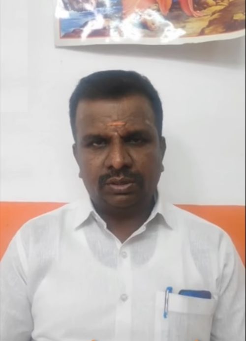 Coimbatore District Hindu Munnani secretary Rajkumar led the fact finding team that exposed the conversion racket