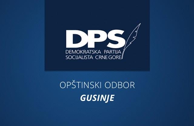 OO DPS Gusinje: Podrška institucijama Crne Gore