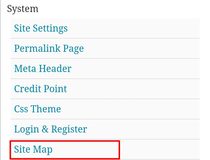 Wapkiz sitemap page create