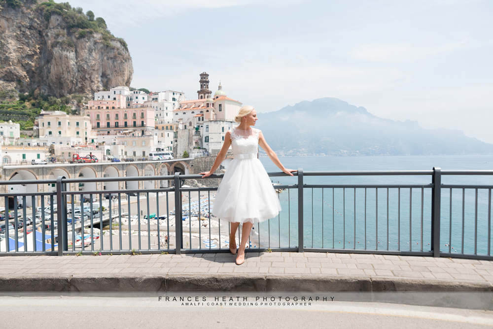 Bride in Amalfi