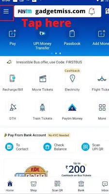 Paytm Account delete