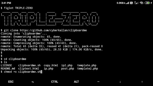 Clipboardme - Hack clipboard content using a link with termux