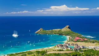 aerial view of The Landings Resort, St. Lucia, Saint Lucia, Rodney Bay