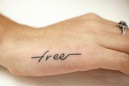 Tato Tulisan Simpel Di Tangan