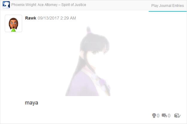 Phoenix Wright Ace Attorney Spirit of Justice Maya Fey fade