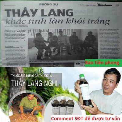 Nước súc miệng cai thuốc lá Thanh Nghị trên báo Tiền Phong