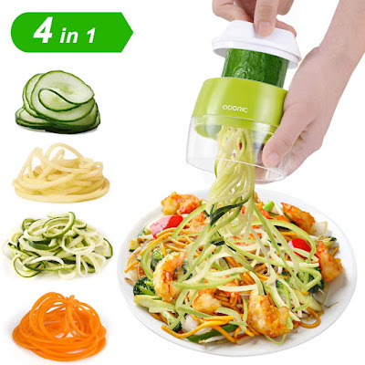 Vegetable slicer 3 in 1 spiralizer grater