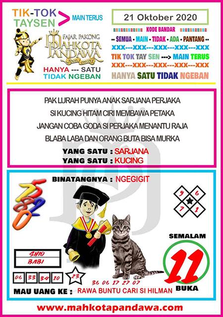 Syair Mahkota Pandawa Rabu 21 Oktober 2020