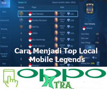 Cara Menjadi Top Local Mobile Legends