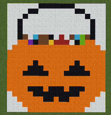 Halloween Candy Bucket Pixel Art Minecraft