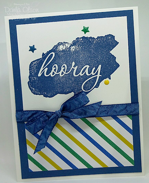 Stampin' Up! Reverse Words looks fabulous in Dapper Denim ink shared by Darla Olson at inkheaven