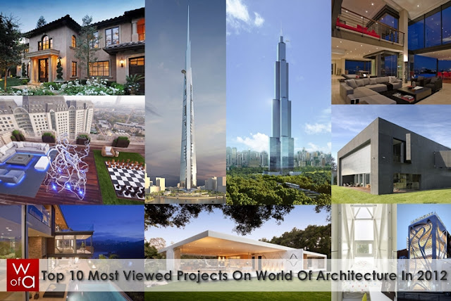 Picture made of 10 smaller photos of the most viewed projects in 2012