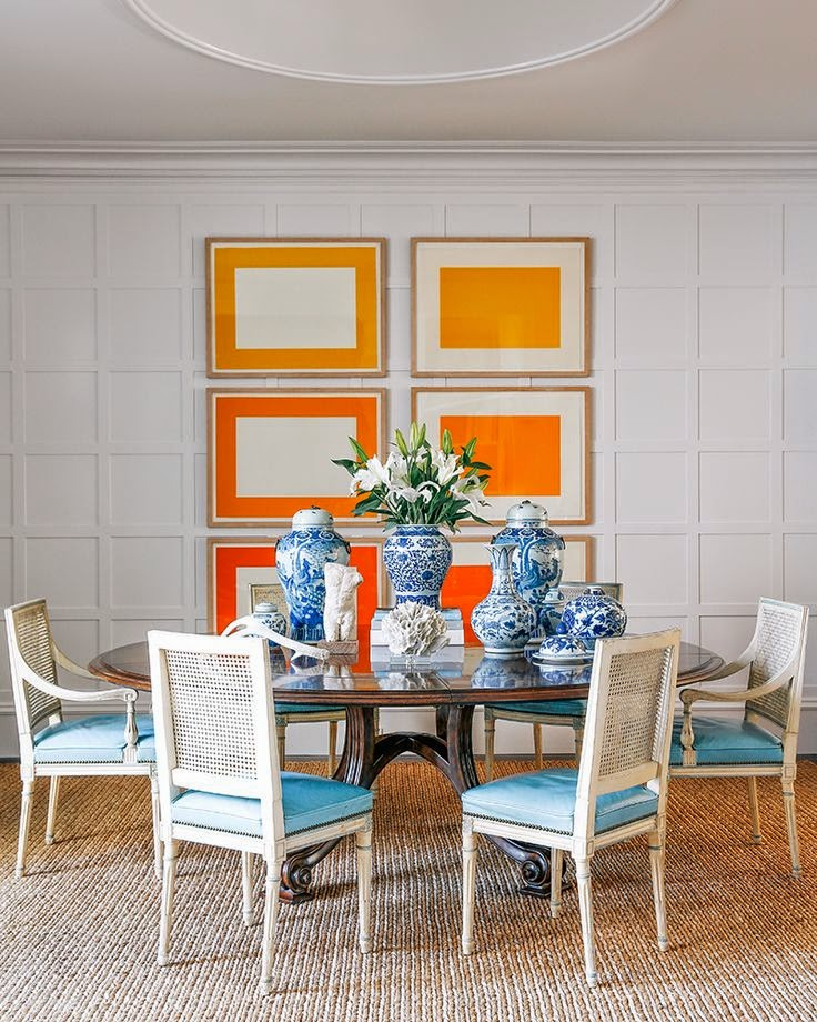 Dining Room Orange: Orange, Blue Orange And Sunsets