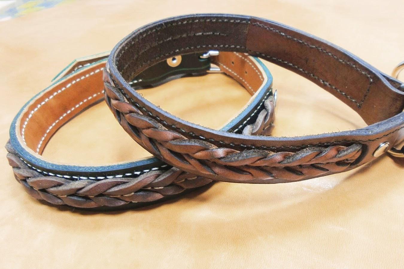 Collares para perros de cuero trenzado artesan a en cuero - Collares de cuero ...