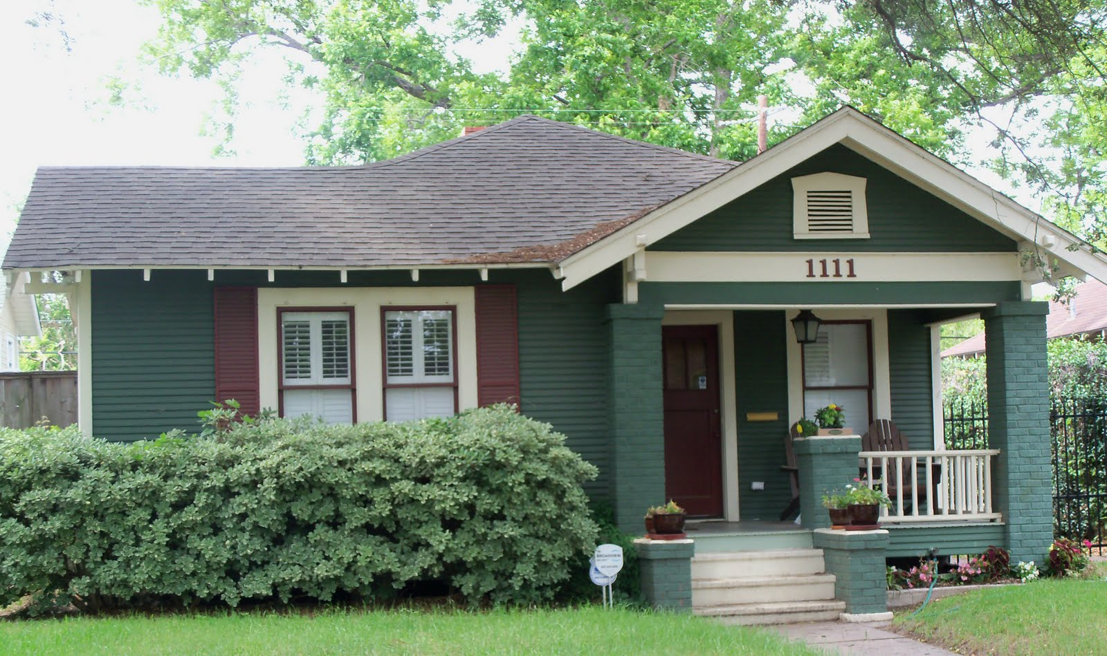 Green Colored Houses - Architectural Designs