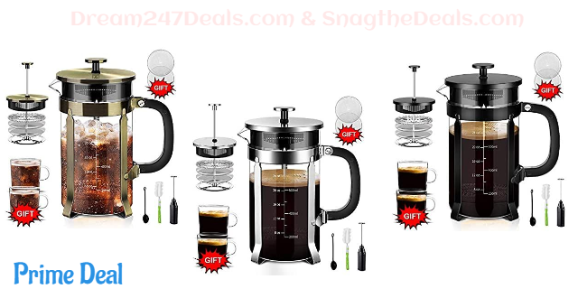 Upgraded French Press Coffee Maker 20% off