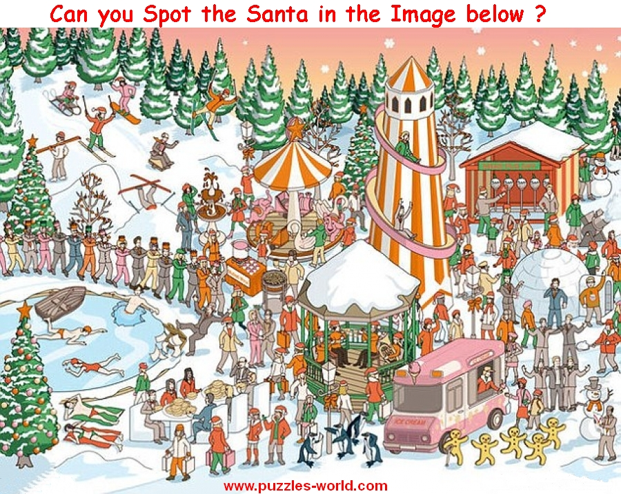 Can you Spot the Santa in the Image