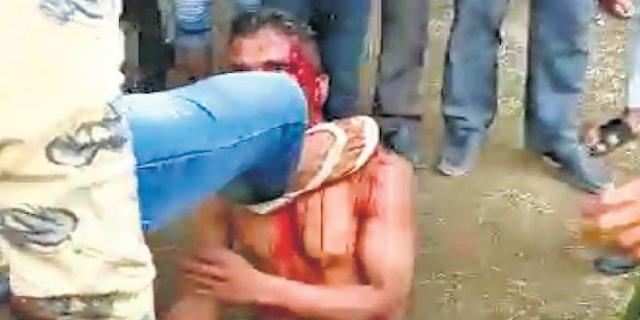 शाजापुर में खूंटे से बांध युवक को पीटा | SHAJAPUR MP NEWS