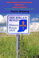 A photo of a sign about historic Michigan Road