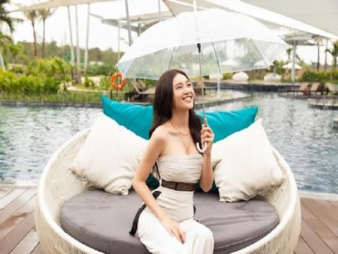 HOT: Diễn viên Ninh Dương Lan Ngọc khoe vòng eo 'con kiến'