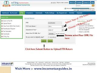 Upload ITR Return, income tax return upload, itr online return upload,online return upload