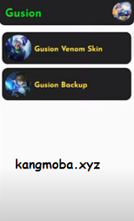 APK Gusion Venom Skin Full Background Offline Injector Mobile Legends