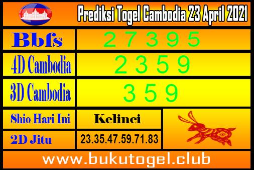 Prediksi Togel Cambodia 23 April 2021