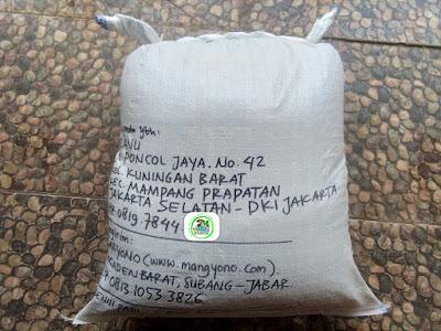 Benih Padi Pesanan  RANU Jaksel, DKI Jakarta.   (Setelah di Packing).
