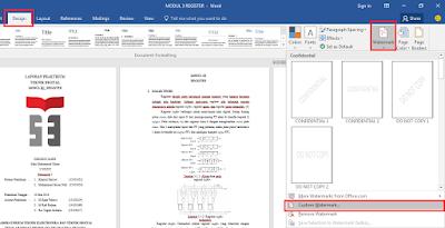 Panduan Mudah Cara Membuat Watermark Teks atau Gambar di Word
