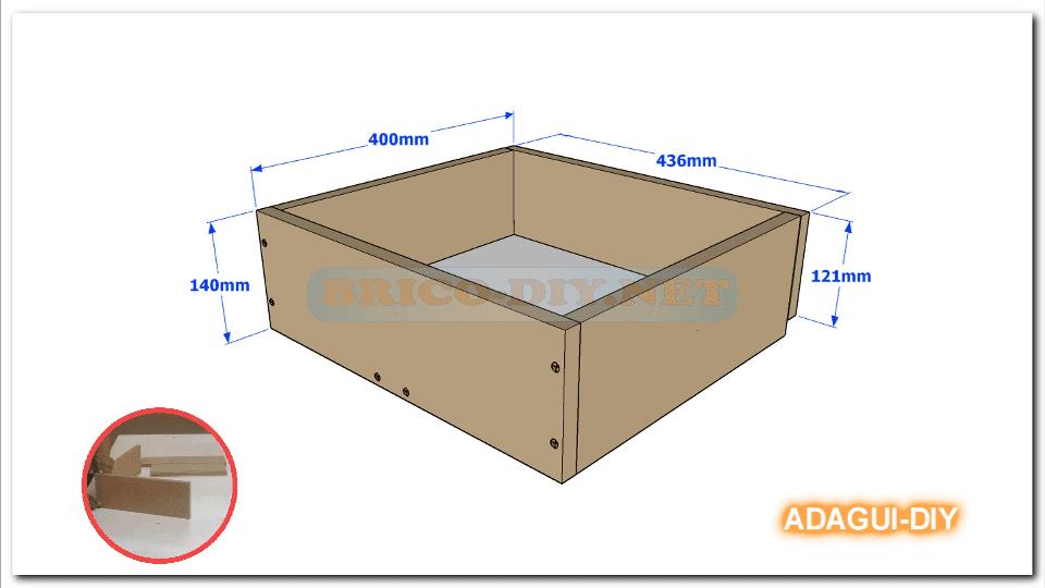 V deo como hacer gavetas y cajones de mdf para muebles - Como hacer una mesa escritorio ...