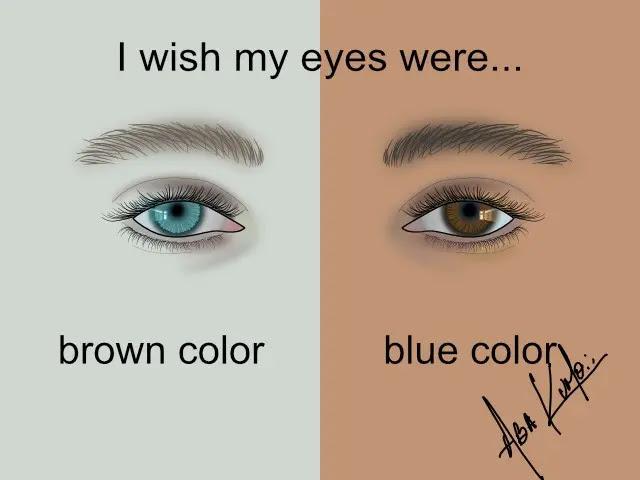 I wish my eyes were