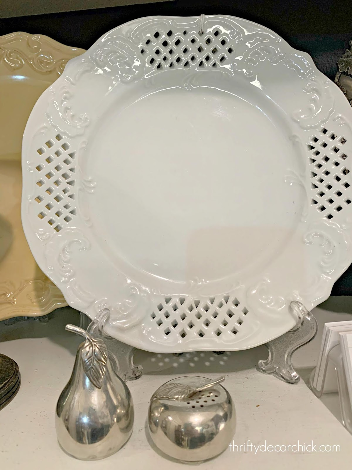 white vintage ceramic dishes