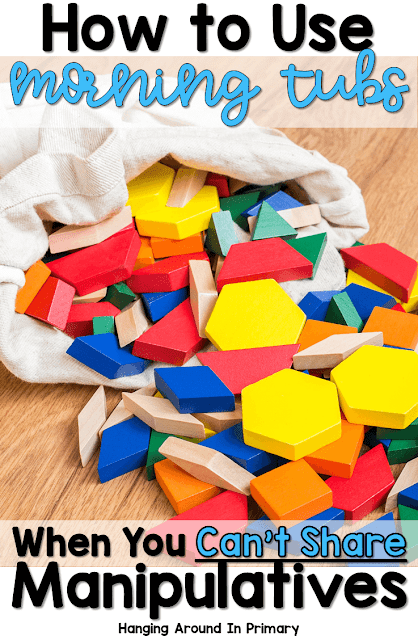 You can still have morning tubs in your classroom this year even though you probably can't share manipulatives.  Find out how to set up individual kits to run your morning tub program.
