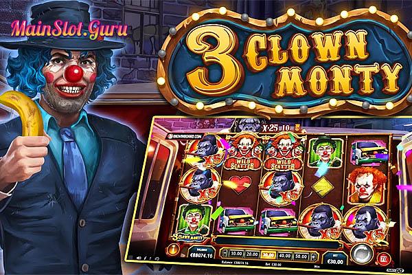 Main Gratis Slot Demo 3 Clown Monty Play N GO