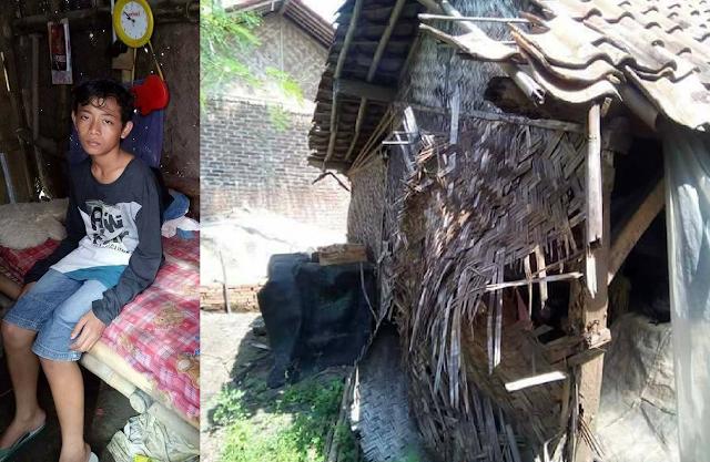 Tolong Disambangi, Bocah Ini Harus Tinggal Sendiri di Gubuk Reot Tanpa Tahu Ibunya Pergi Kemana