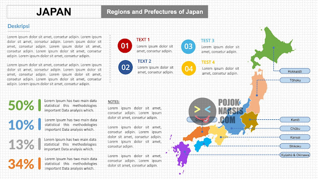 Peta Negara Jepang HD PPTX