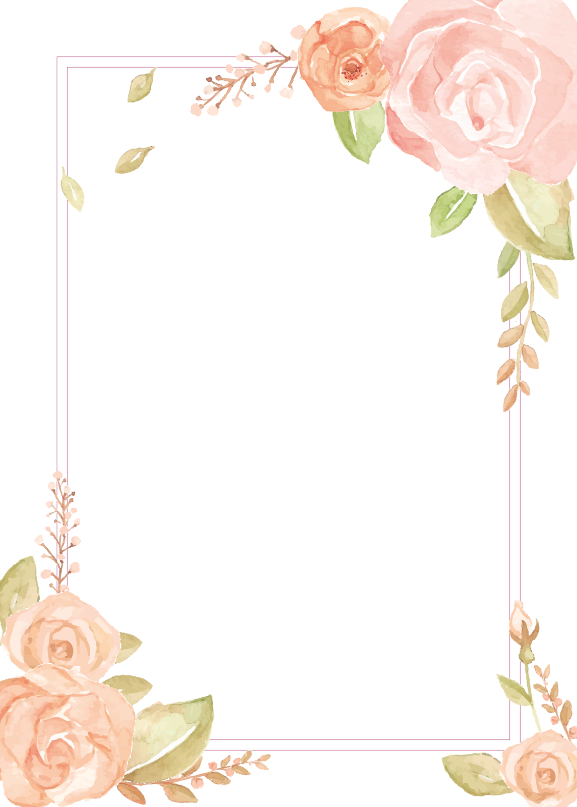 Passatempo Da Ana Molduras Para Convite Floral