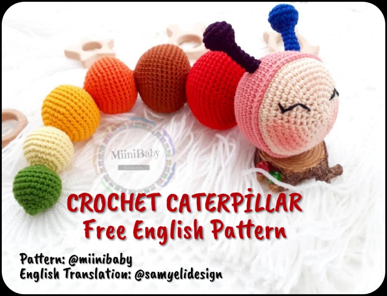 Caterpillar rattles for babies | lilleliis | 1080x1413
