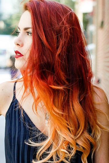 Baño De Color Rojo En Pelo Oscuro:Mujer: Estilo y Belleza: Cortes Pelo Largo Pelirrojo 2016