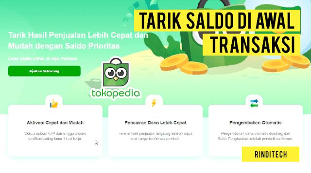 Cara Aktivasi Saldo Prioritas di Tokopedia untuk Tarik Dana Diawal Transaksi