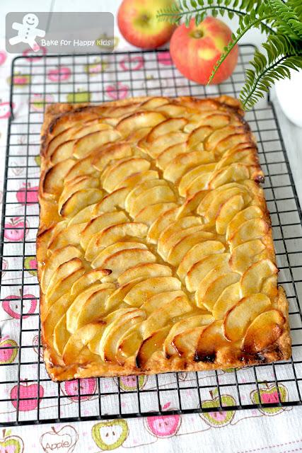 fuss free French apple tart less sugar