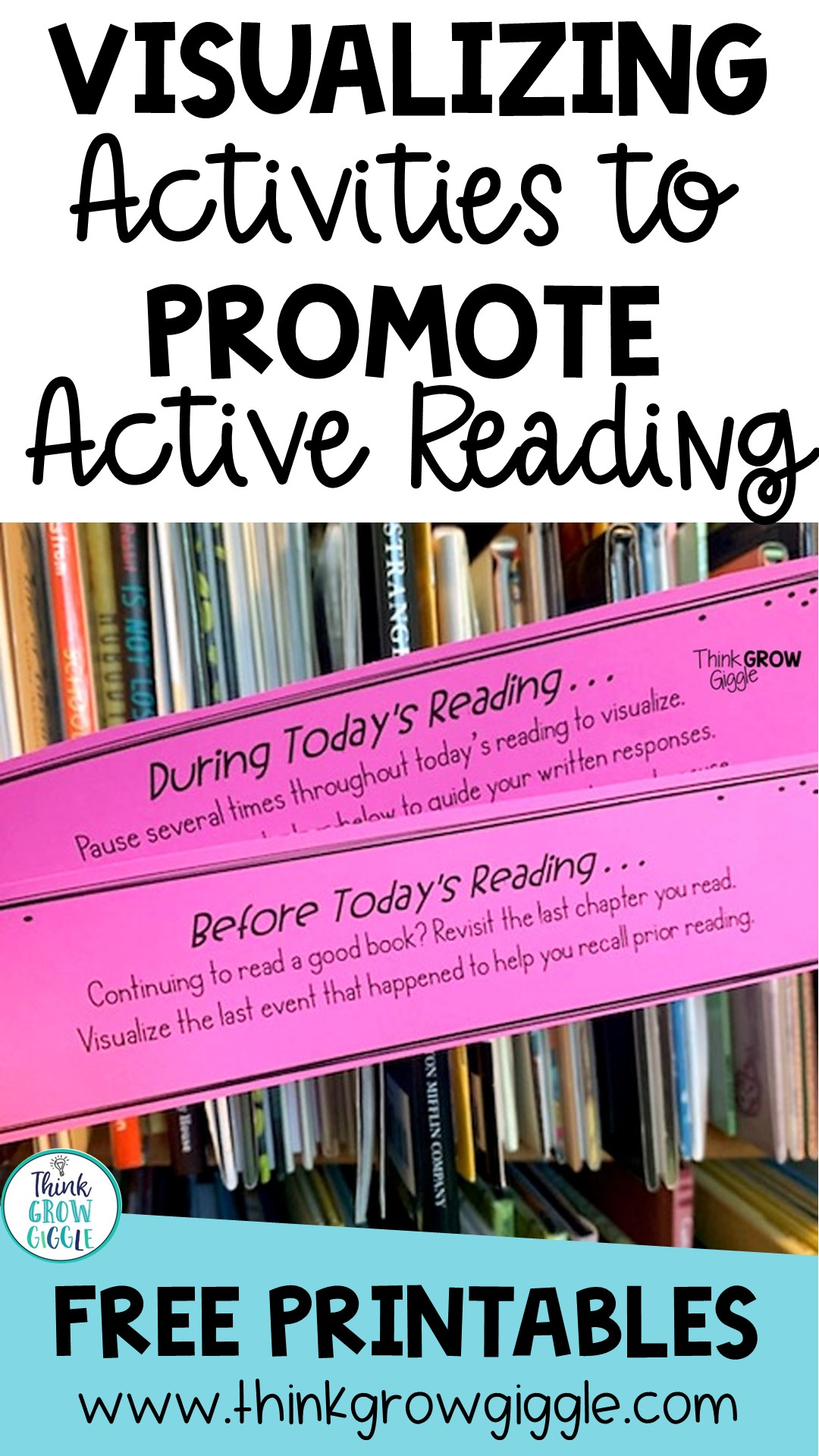 Visualizing activities to do during reading upper elementary