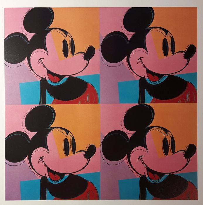 Andy Warhol- Mickey MOuse