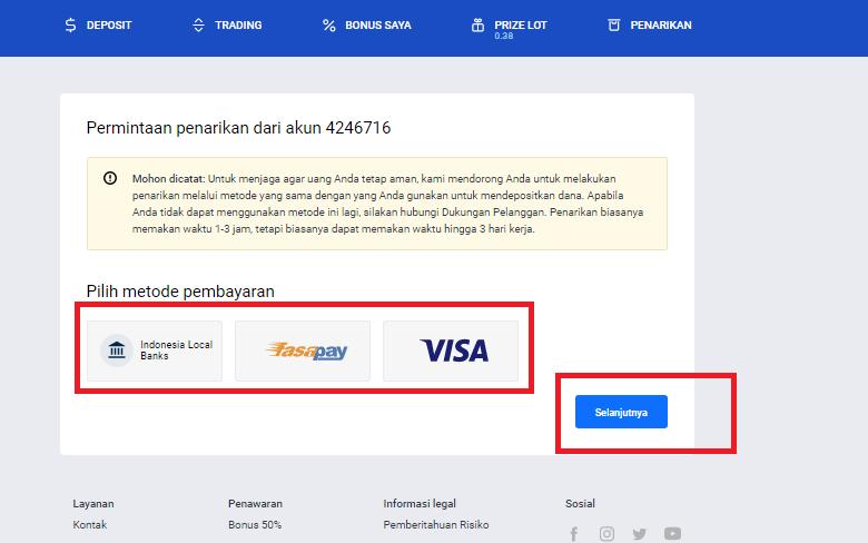 Cara Withdraw Broker Octafx Via Bank Lokal Mandiri Bca Bni Bri Fasapay Visa Dan Help2pay Panduan Trading Forex Di Octafx